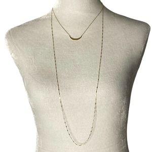 Jennifer Zeuner RARE Crescent Moon Double Necklace